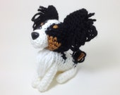 Papillon Crochet Dog Stuffed animal Amigurumi Puppy Plush Doll / Made to Order