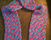 Multicolor Knit Tube Scarf