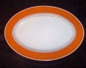 "Fitz & Floyd 1975 Rondelet Orange 14 1/4"" Platter ... MINT"