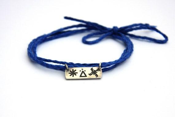 SUN, GOD, THUNDER, jewel for children, protection and love- amulet necklace/bracelet- handmade sterling silver 925 pendant on linen thread