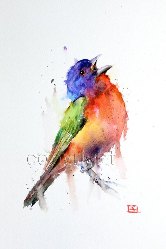 Dean Crouser Paintings Bird Print by Dean Crouser