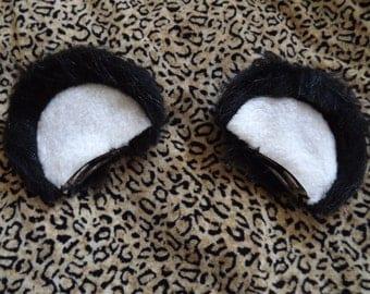 Clip In Panda Ears Cosplay Kawaii Halloween Hair Barrettes Accessories