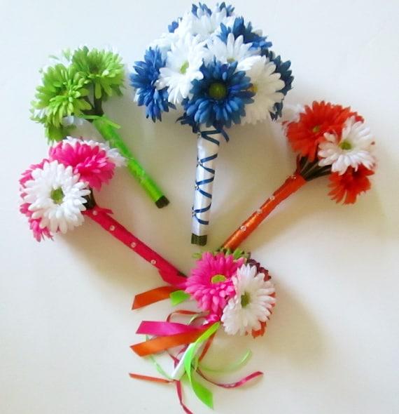 Rainbow Wedding Flowers Gerbera Daisy Bouquets By