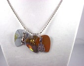 "Guitar ""Pick Punch"" Necklaces with Charm"