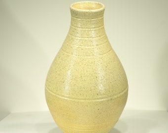 Speckled Soda Glaze, Wood Fired, Ceramic Vase 10