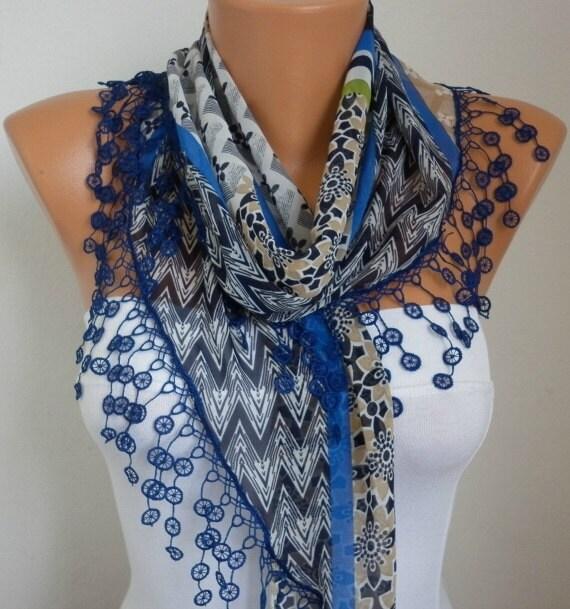 Summer scarf shawl - Lace Scarf - Sale scarf -  Free scarf - Multicolor -  fatwoman