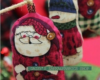 Cotton Canvas Fabric Cloth -DIY Cloth Art Manual Christmas Dolls Cloth 55x21 Inches