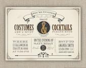 Halloween party invitation printed or DIY