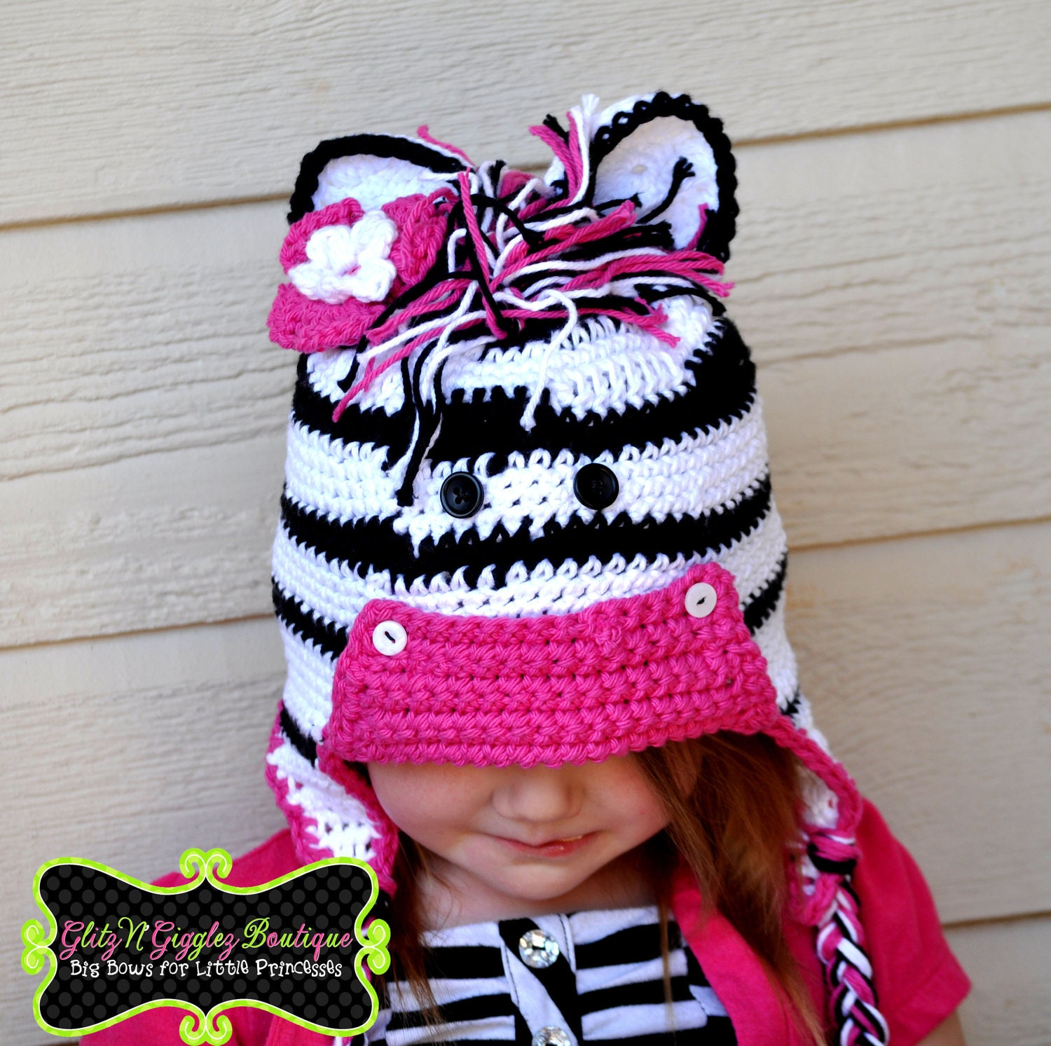 Crochet Zebra Hat www.galleryhip.com - The Hippest Pics