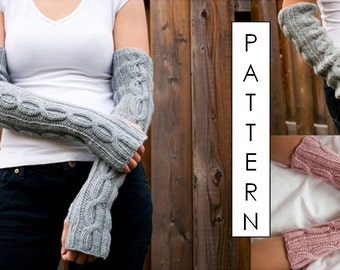 Kare Knits' Cable Twist Arm/Wrist Warmers - KNITTING PATTERN ONLY