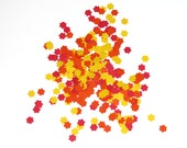 Flower Confetti Red Orange Yellow 450 Pieces