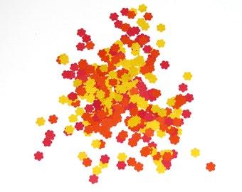 Flower Confetti Red Orange Yellow 450 Pieces