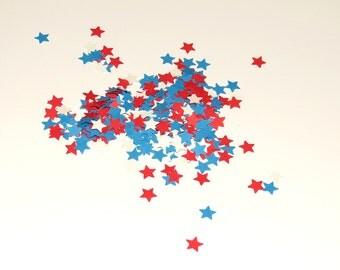 Small Stars Red White Blue Confetti 450 Pieces