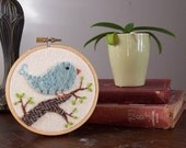 Spring Bluebird- Reclaimed Wool Felt Applique