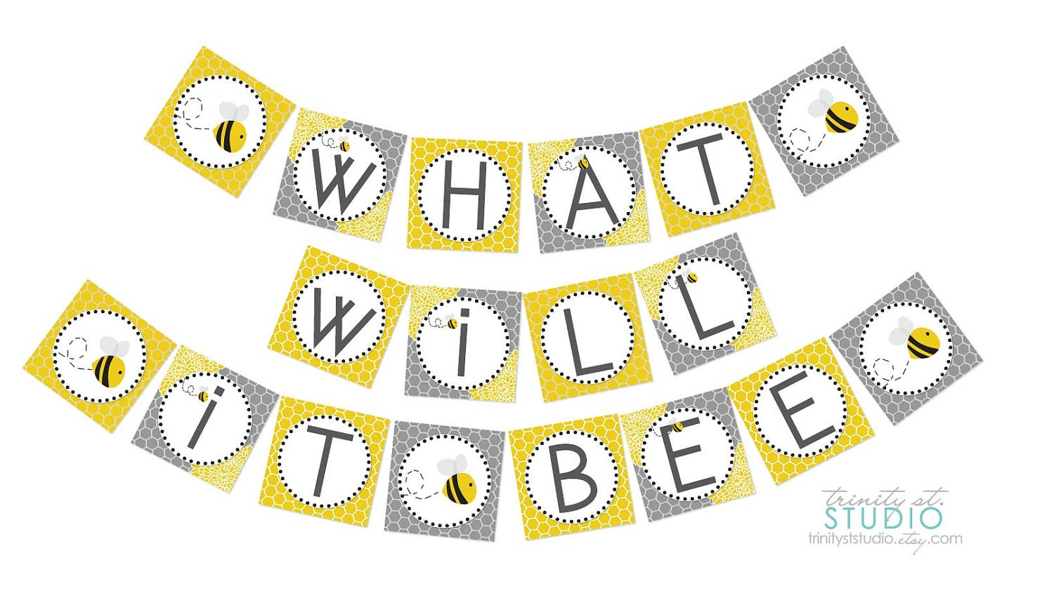 what will it bee party banner for a gender reveal baby shower