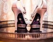 Wedding I DO Shoe Stickers - Pink I Do Wedding Shoe Appliques - Rhinestone I Do Shoe Stickers for your Bridal Shoes