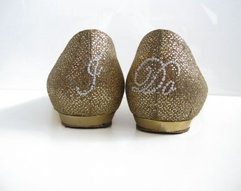 I Do Shoe Stickers - PEARL SCRIPT I Do Wedding Shoe Appliques - Pearl White I Do Shoe Decals for your Bridal Shoes