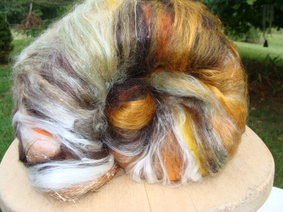 Tequila Sunrise Oh So Soft Spinning Batt 4 Ounces