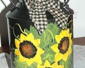 Sunflowers on Milk Can