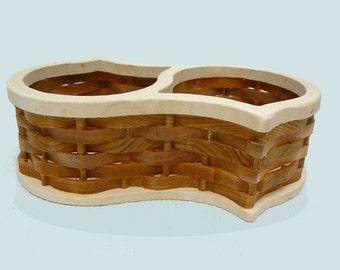 Basketweave Candy Dish