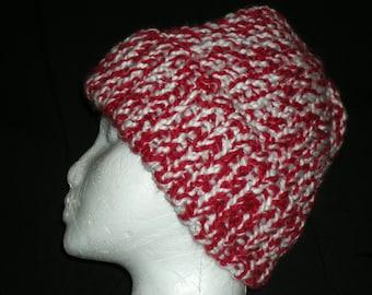 candycane knit hat