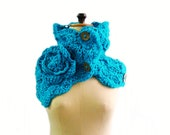 CROCHET PATTERN Button Up Chunky Cowl, Crochet Scarf Pattern, 219