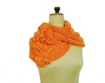 Knit Scarf Pattern, Lace Loop Scarf Pattern, Circle Scarf Knitting Pattern, 56