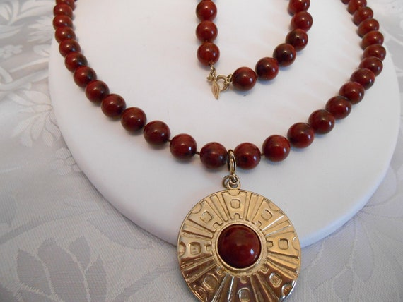Vintage necklace, signed Sarah Coventry necklace, burgundy necklace, vintage jewelry, jewellery,boho necklace, statement necklace