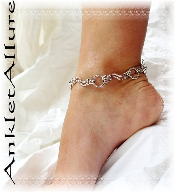 Simply Southwestern Gypsy Anklet Double Link Silver Chain Ankle Bracelet