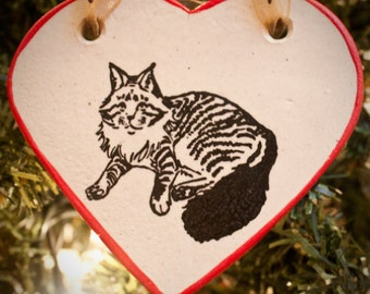 Maine Coon - Heart Ornament