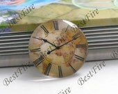 2pcs of the 25mm Round Glass Cabochons horologe, jewelry Cabochons finding beads,Glass Cabochons, WATCH-FACE--05
