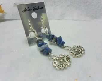 Sodalite Earrings Gemstone Dangle Earrings