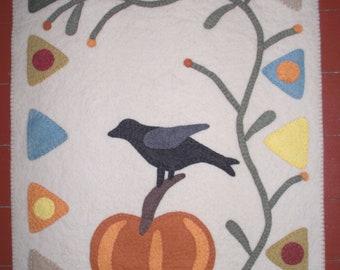 Crow's Hollow Wool Felt Penny Rug