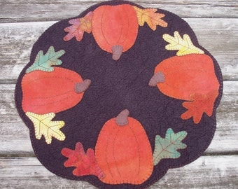 Fall Bounty Felted Wool Candle Mat