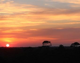 Hilton Head Sunset - 8x10 Art Photo - South Carolina - beach, pink, blue, purple