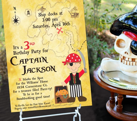 Pirate Party Invitation | Pirate Birthday Invitation | Pirate Party Invite | Pirate Invitation | Boy Birthday | Amanda's Parties To Go