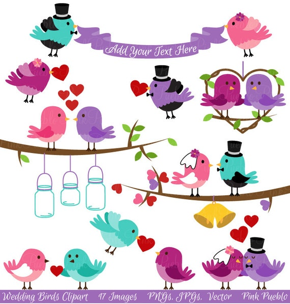 Wedding Birds Clipart Clip Art Valentine Love Birds Lovebirds