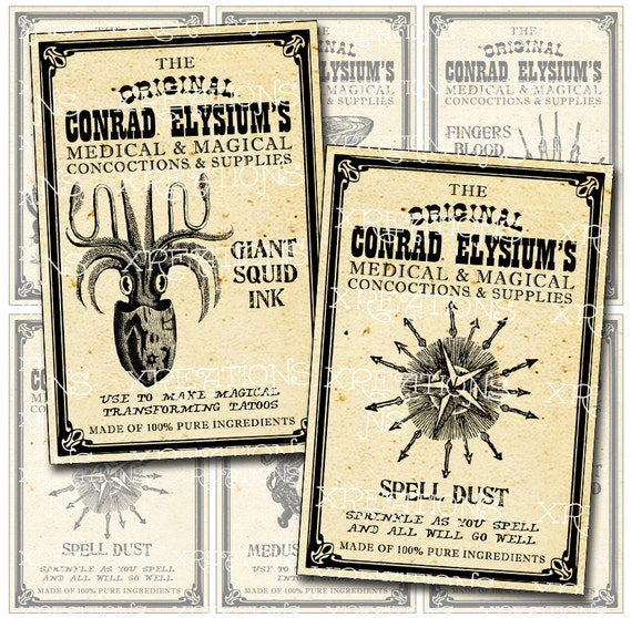 ideas for labels steampunk apothecary labels potions magical concoctions and