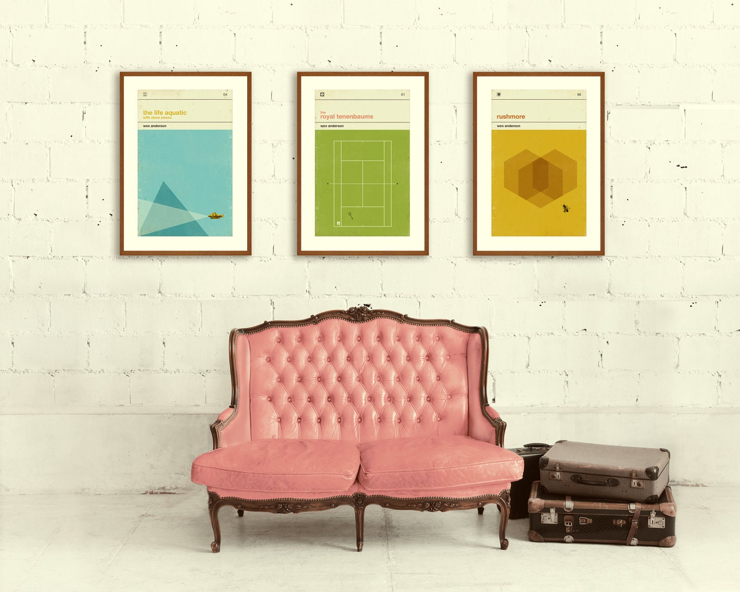 Wes Anderson Inspired Posters Art Print Movie Poster Series
