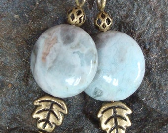 Blue Crazy Lace Agate Earrings