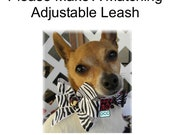 """Dog Leash ADJUSTABLE Please make a MATCHING Leash 3/4"""" or 1"""" Example adjusts 3 ft to 5 ft or  2-1/2 to 4 f t   You pick the fabric"""