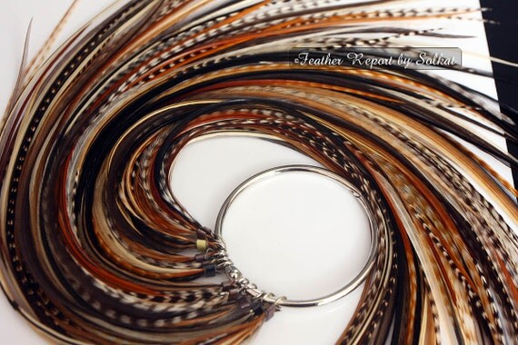 Boho hair accessories feather extensions diy kit hair feathers like this item solutioingenieria Gallery