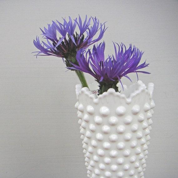 Vintage Fenton Hobnail Milk Glass Vase
