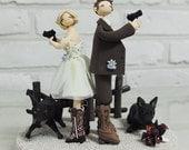 Detective Agent Police officer custom wedding cake topper