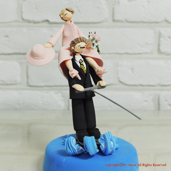 water ski wedding cake topper mono skiing water skiing custom wedding cake topper by 21682