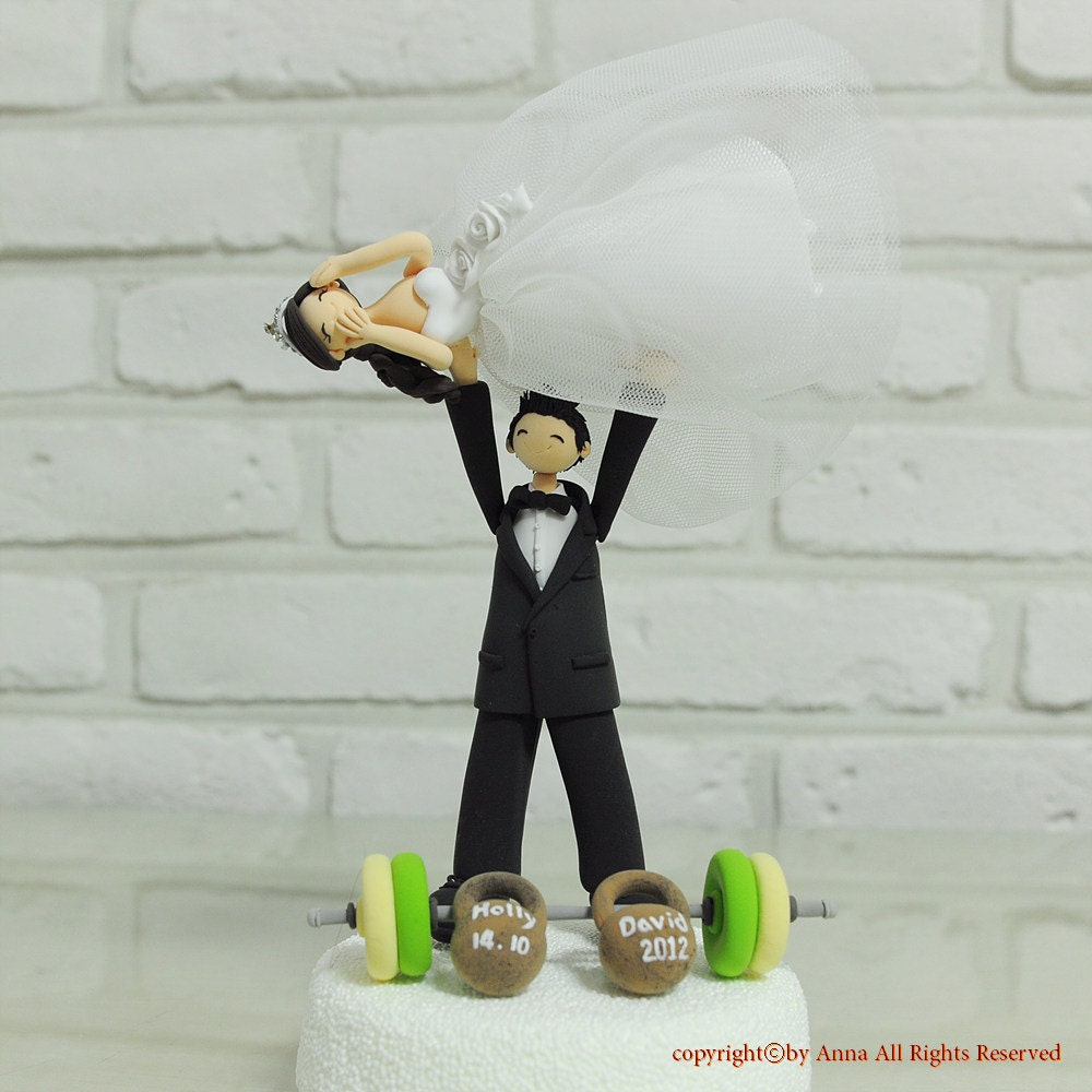 Weightlifter Cake Topper