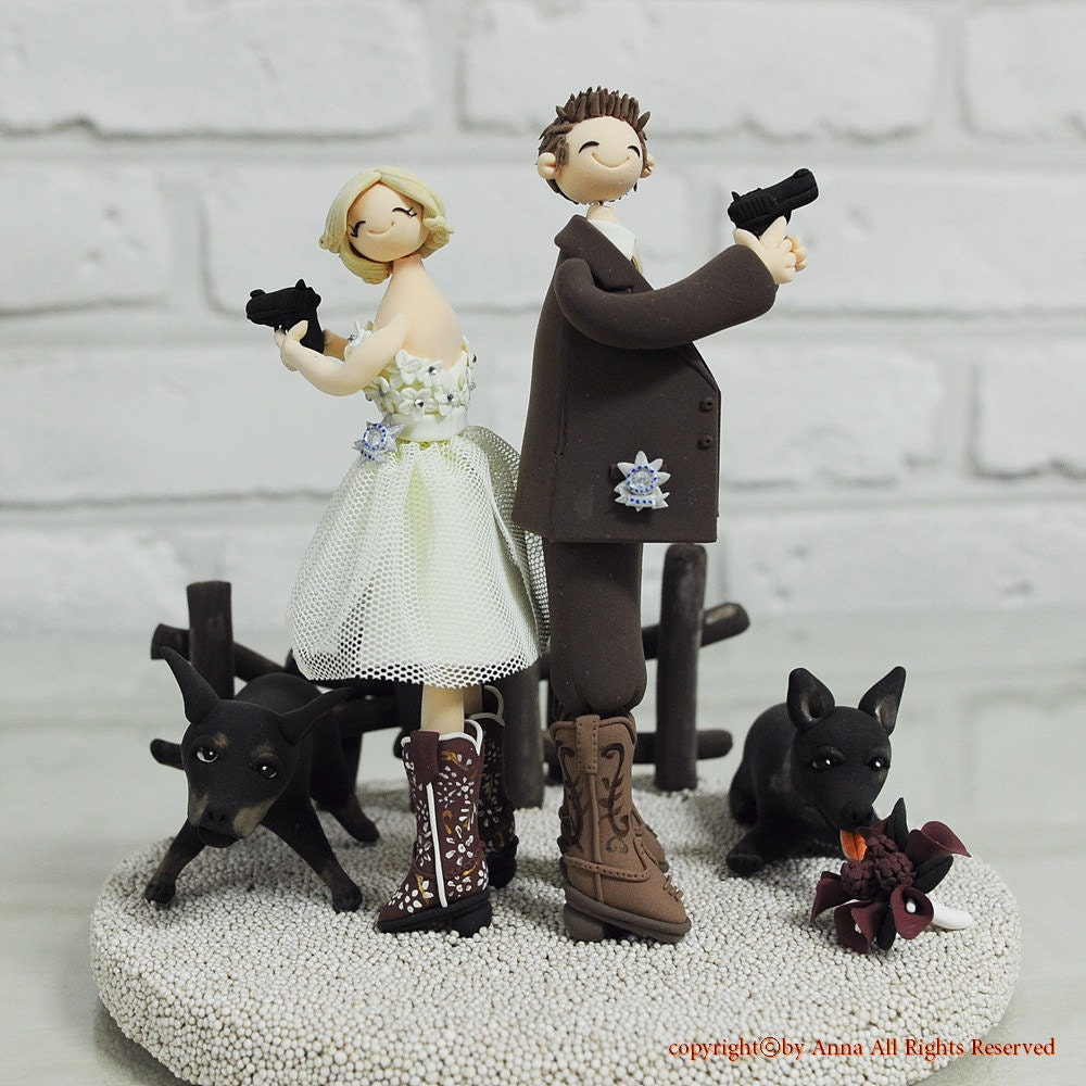police couple wedding cake toppers detective officer custom wedding cake topper 18669