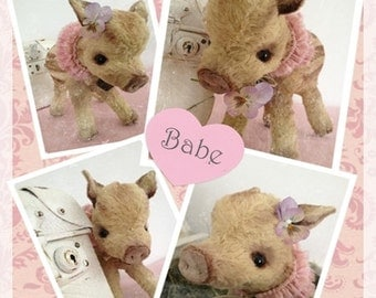 """PDF File for 6,5 x 9 Inch Piglet """"Babe"""""""