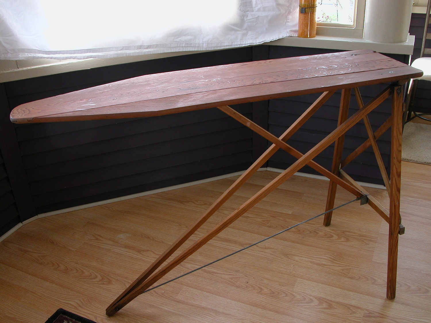Vintage Wooden Ironing Board by MoesEmporium on Etsy