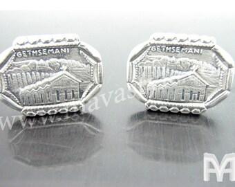 Sterling Silver Jesus Christ Gethsemane Cufflinks